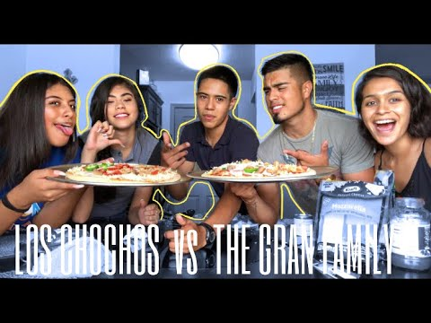 MAKING A PIZZA CHALLENGE | LOS CHOCHOS Vs THE GRAN FAMILY