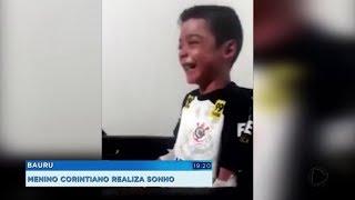 Torcedor mirim recebe convite e vai realizar sonho de assistir ao jogo do Corinthians no estádio