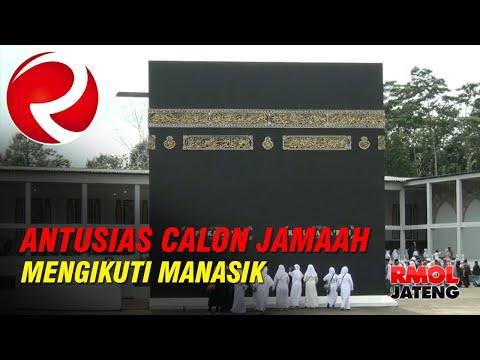 Antusias Calon Jamaah Umroh Mengikuti Manasik