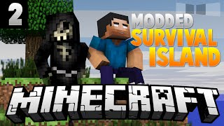 LUCKY BLOCKS&CREEPER MAYHEM [2] ( Modded Survival Island ) w/AciDic BliTzz&Taz!