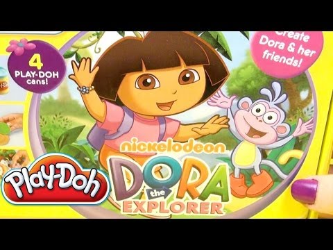 toys - Play Doh Dora The Explorer kit. Make Dora and friends figures and let's play!!! ✿◕ ‿ ◕✿ You can also check out my Play-Doh kits playlist, amazing playsets th...