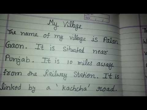 My village, a short paragraph for kids, online classes, education for kids English grammar