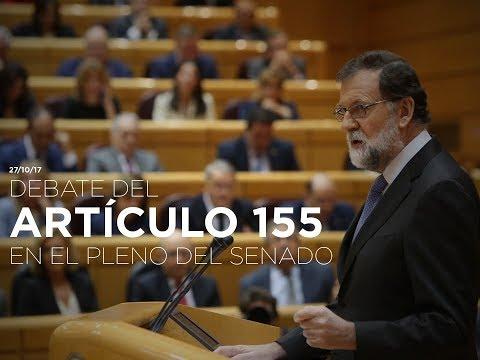 Mariano Rajoy defiende el 155 en el Senado