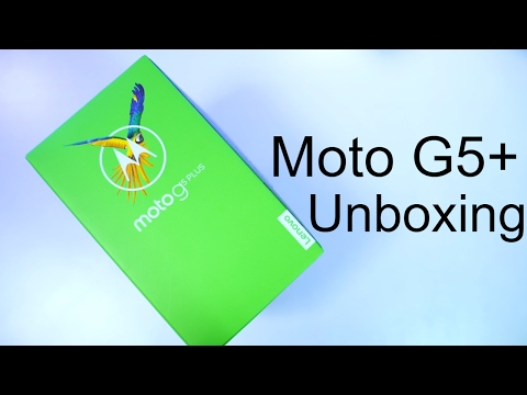 Moto G5 Plus Unboxing and Initial Impressions