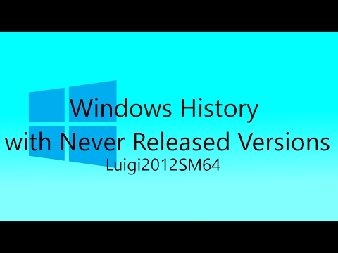 Windows History with Never Released Versions - Revision 1