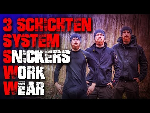 3 Schichten System - Outdoor Kleidung Jacke Fleece - Snickers Workwear XTR Gore Tex