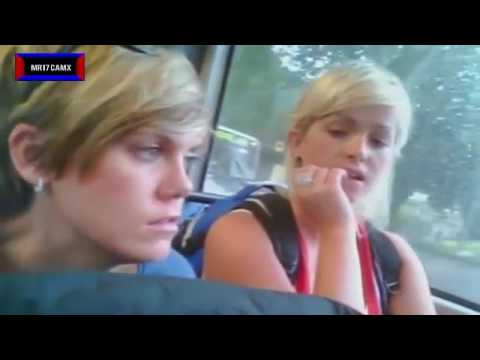 Black Femal And Some Girls Inspection Crotch Bulge On Train And Bus   Social Experiment