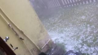 Chuva de granizo em Florianópolis 12/03/2017