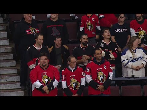 Video: Fans help get anthem started as P.A. system crashes at Senators game
