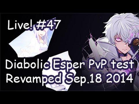 [Elsword KR] Diabolic Esper PvP test : Live streaming #47