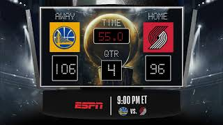 Warriors @ Trail Blazers LIVE Scoreboard - Join the conversation & catch all the action on ESPN!