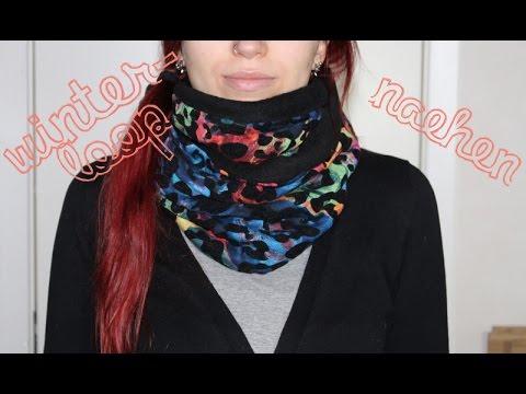 Winter Loop – kuscheligen Fleece-Schal selbst nähen – schnelles und einfaches DIY