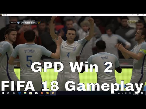 GPD Win 2 -  FIFA 18 (Origin) Gameplay Video. Play Windows PC Steam, Origin, Emulators And More!