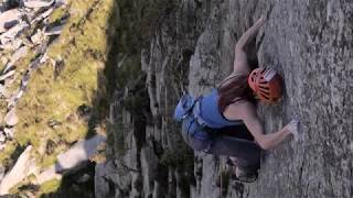 E9 climb Rare Lichen by Emma Twyford by teamBMC