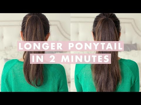 luxy hair - Want a longer , thicker ponytail ? Watch this video to learn an easy trick you can do with your hair to get a longer/thicker looking ponytail in minutes. Try...