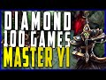 Master Yi - Diamond in 100 games or less!