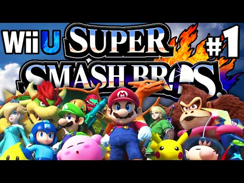 Super Smash Bros 4 Wii U PART 1 Starting Roster Character Unlock Mega Man HD Gameplay Walkthrough