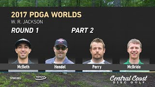 Watch as the MPO Feature card  tackles on W. R. Jackson disc golf course in the first round of the 2017 PDGA World Championship.http://www.patreon.com/CCDGhttp://centralcoastdg.comhttps://www.instagram.com/centralcoastdiscgolfhttp://www.facebook.com/pages/CentralCoastDiscGolfhttps://twitter.com/CCoastDiscGolfhttps://soundcloud.com/uniquesyntax/rocking-to-brock-unique-syntax-and-atheist-beat-by-brock-berriganhttps://www.facebook.com/therockytropic/http://www.soundcloud.com/therockytropic