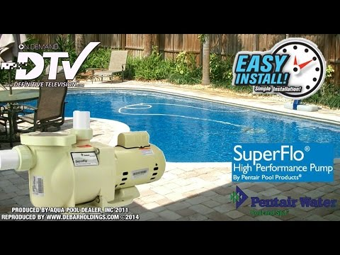How To Replace or Install a new Pool Pump Pentair - SuperFlo
