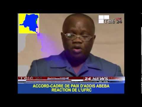 TÉLÉ 24 LIVE: UFRC demande le départ de KABILA, réaction sur l'accord cadre de Paix d'Addis Abeba