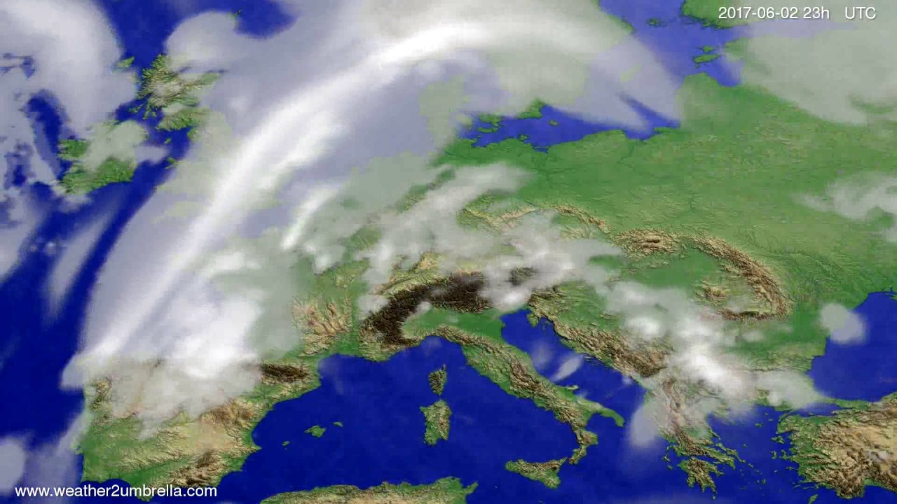 Cloud forecast Europe 2017-05-30