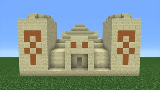 Minecraft Tutorial: How To Make A Desert Temple (Including Interior)