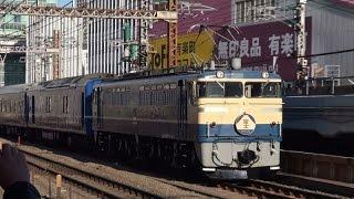 【東京駅開業100周年記念 団体臨時列車 「富士」】EF65 501[高]+24系青森車 有楽町