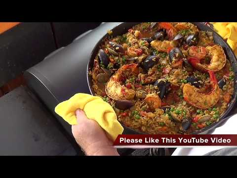 Seafood Paella on Griddle Master <br>Griddle Top