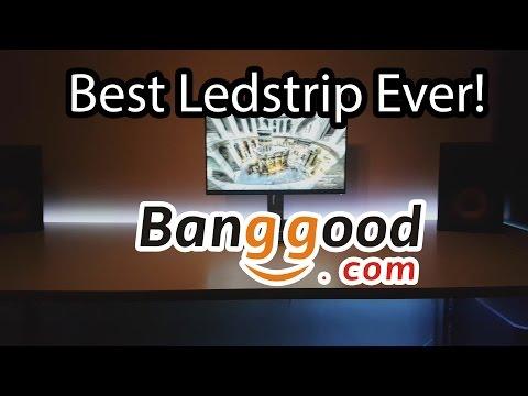 BANGGOOD 5M RGB Non-Waterproof 300 LED SMD 5050 LED Strip Light DC 12V
