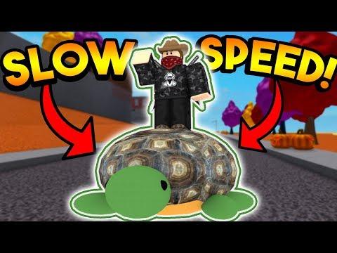 SLOWEST WALK SPEED CHALLENGE!  ROBLOX: Super Power Training Simulator