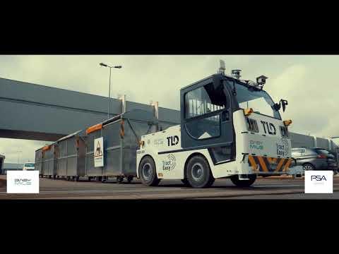 Groupe PSA & Easymile - Autonomous tow tractor experimentation in Sochaux plant