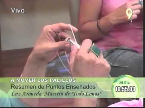 Tejidos con Luz Araneda Repasa diferentes puntos y tejidos
