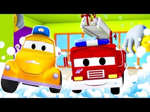 Автомойка Эвакуатора Тома и Пожарный Френк | Мультфильмы с машинками для детей