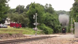 Steamtown NHS: CN 3254's First Moscow Exursion of the Year and NKP 514 on the Scranton Limited
