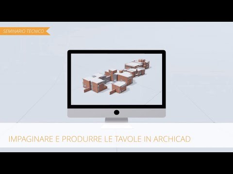 Le tavole in ARCHICAD