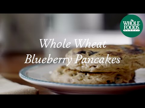 homemade - Blueberries, fresh or frozen, make these healthy pancakes a delicious morning treat. Start with whole wheat pastry flour and mix in almond- rice- or soymilk. Stir in honey, cinnamon and vanilla...