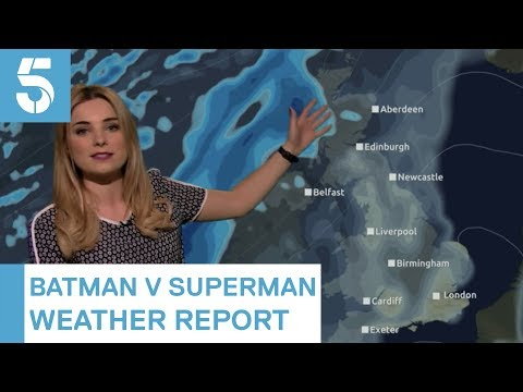 British Weather Girl Sneaks Batman and Superman Puns Into Today s Weather