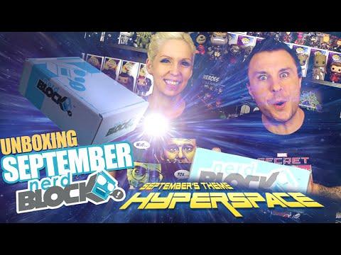 Nerd Block HYPERSPACE (September 2015) Unboxing Review