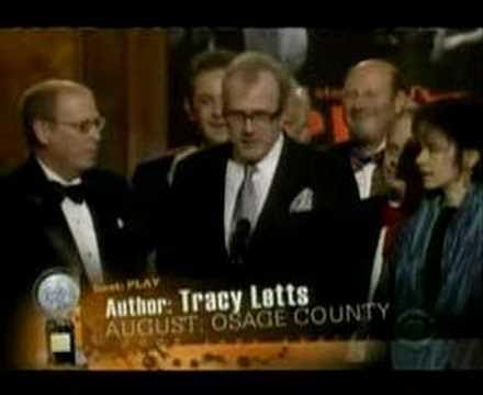 August: Osage County - Tracy Letts' Tony Award Speech