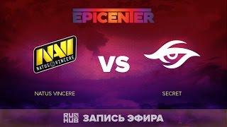Natus Vincere vs Secret, EPICENTER EU Quals, game 2 [V1lat, GodHunt]