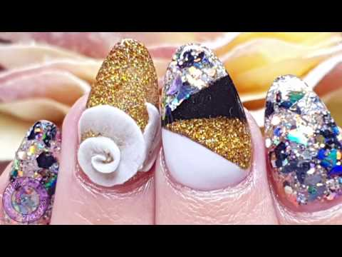 Nail salon - Acrylic Nails Salon Redeign  Geometric  Colour Blocking  Acrylic 3D