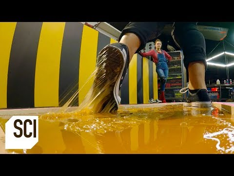 Can You Walk on Rodent Glue Without Getting Stuck? | MythBusters Jr.