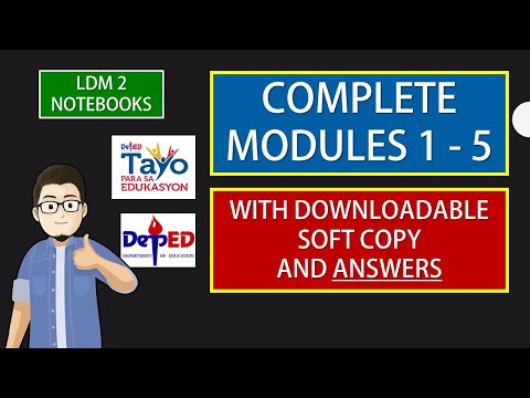 COMPLETE 1 - 5 LDM 2 MODULES WITH ANSWERS  ( WITH DOWNLOADABLE SOFT COPY)