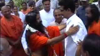 Welcome of Baba Ramdev at Pt. Vishwanath Sharma's Residence