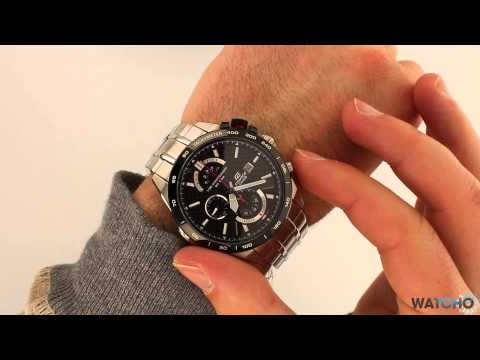 Casio Edifice Watch EFR-520SP-1AVEF Carbon Fibre Chronograph Watch Review (видео)