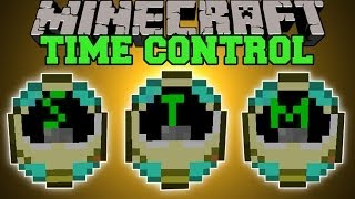 Minecraft: TIME CONTROL MOD (ENTER THE MATRIX, FAST MOTION,&SLOW MOTION!) Mod Showcase