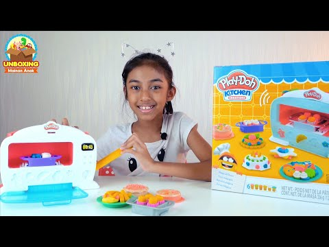 Unboxing Mainan Anak Play Doh Kitchen Set Magical Oven
