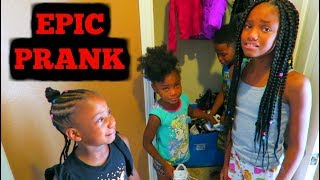 My Daughter Camari Is Staying For School Prank On Kids!