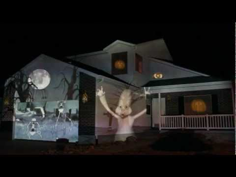 Halloween House Projection