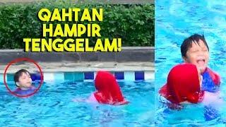 Video Omg! Baby Qahtan Hampir Tenggelam Kolamnya Berombak! MP3, 3GP, MP4, WEBM, AVI, FLV Juni 2019